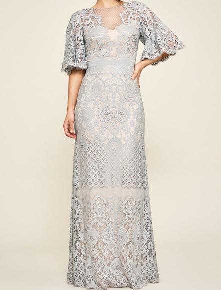 c2fab1a32ce NWT Malina Flutter Sleeve Lace Gown. NWT. Tadashi Shoji